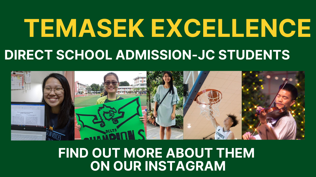 DSA-JC Students Exemplifying Temasek Excellence
